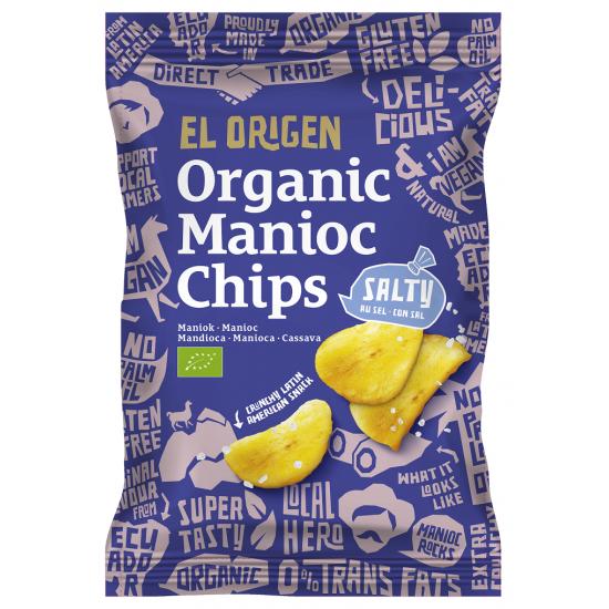 CHIPSY Z MANIOKU SOLONE BEZGLUTENOWE BIO 60 g - EL ORIGEN