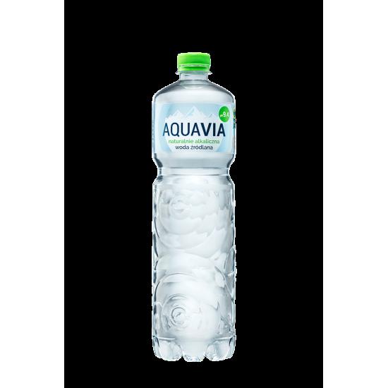 WODA ŹRÓDLANA ALKALICZNA 1 L - AQUAVIA