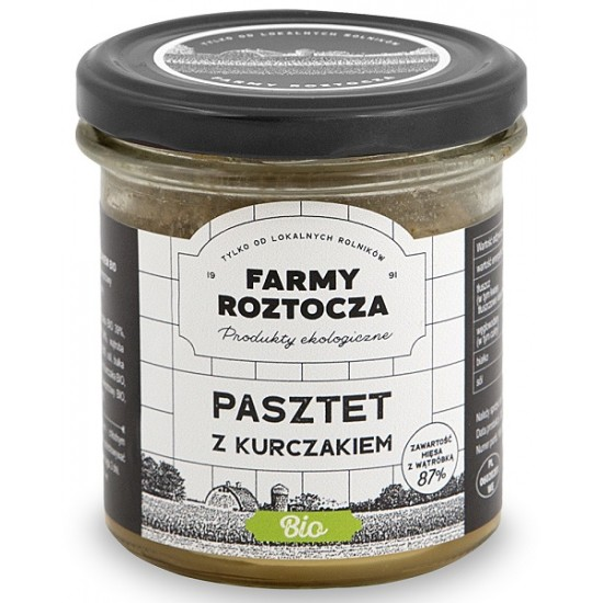 PASZTET DROBIOWO - WIEPRZOWY BIO 180 g (SŁOIK) - FARMY ROZTOCZA