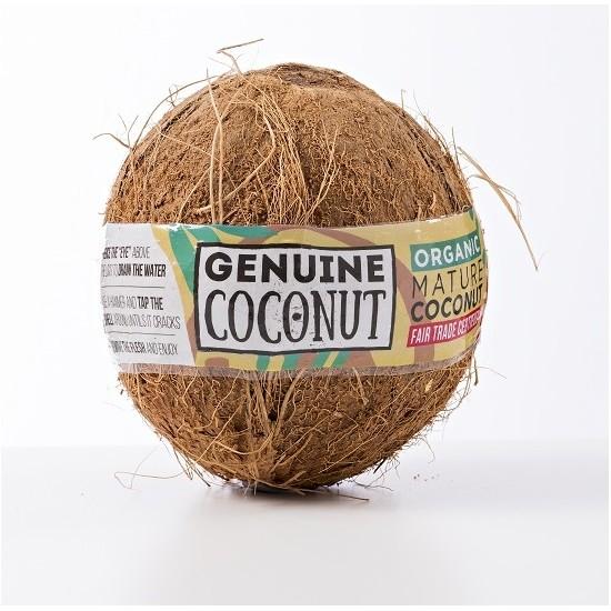 DOJRZAŁY KOKOS BIO (około 0,5 kg) - GENUINE COCONUT