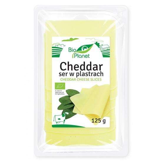 SER CHEDDAR PLASTRY 125 g - BIO PLANET