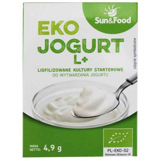 LIOFILIZOWANE KULTURY STARTEROWE DO JOGURTU L+ BIO 4,9 g - SUN&FOOD