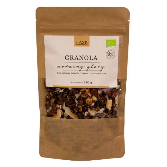 GRANOLA ORZECHY LASKOWE - KAKAO - CHIA (MORNING GLORY) BIO 220 g - HASK