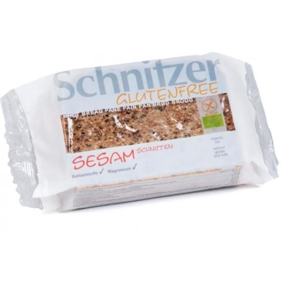 CHLEB Z SEZAMEM KROJONY BEZGLUTENOWY BIO 250 g - SCHNITZER