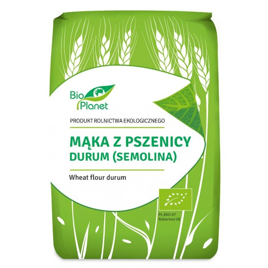MĄKA Z PSZENICY DURUM (SEMOLINA) BIO 1 kg - BIO PLANET