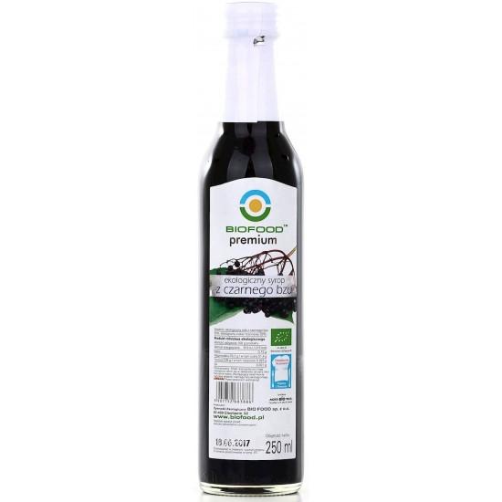 SYROP Z CZARNEGO BZU BIO 250 ml - BIO FOOD