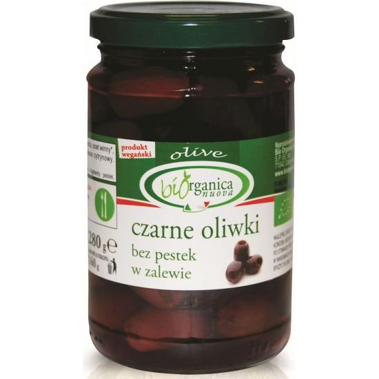 OLIWKI CZARNE BEZ PESTEK W ZALEWIE SŁOIK BIO 280 g (160 g) - BIO ORGANICA ITALIA (BIORGANICA NUOVA)
