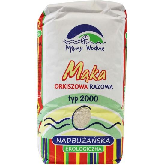 MĄKA ORKISZOWA RAZOWA NADBUŻAŃSKA TYP 2000 BIO 1 kg - MŁYNY WODNE (EKO OAZA)