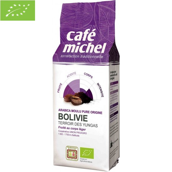 KAWA MIELONA ARABICA 100% BOLIWIA FAIR TRADE BIO 250 g - CAFE MICHEL