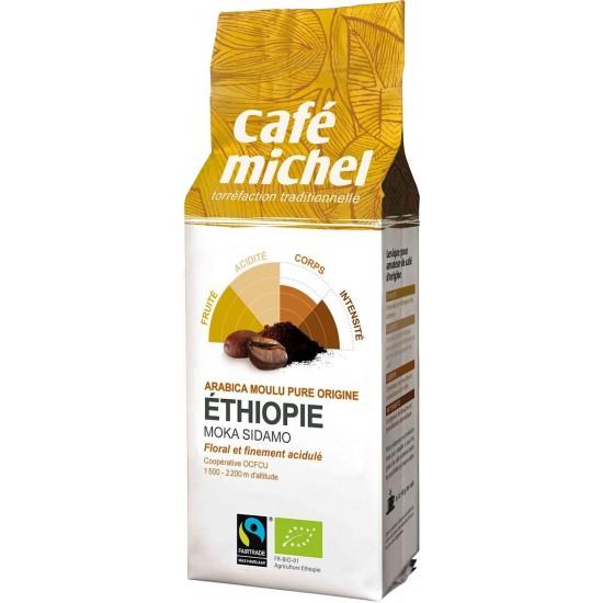 KAWA MIELONA ARABICA 100% MOKA SIDAMO ETIOPIA FAIR TRADE BIO 250 g - CAFE MICHEL