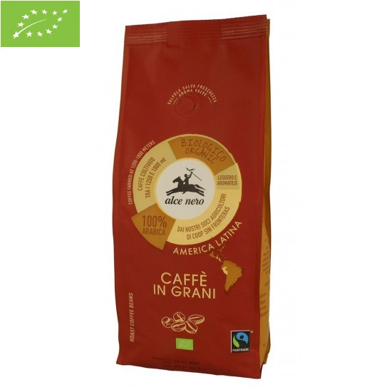 KAWA ZIARNISTA ARABICA 100% FAIR TRADE BIO 500 g - ALCE NERO