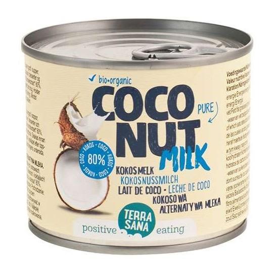 COCONUT MILK - NAPÓJ KOKOSOWY BEZ GUMY GUAR W PUSZCE (22% TŁUSZCZU) BIO 200 ml - TERRASANA