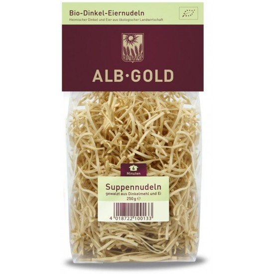 MAKARON (ORKISZOWY JAJECZNY) NITKA BIO 250 g - ALB GOLD