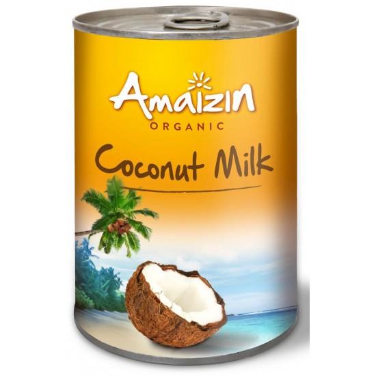 COCONUT MILK - NAPÓJ KOKOSOWY BEZ GUMY GUAR W PUSZCE (17% TŁUSZCZU) BIO 400 ml - AMAIZIN