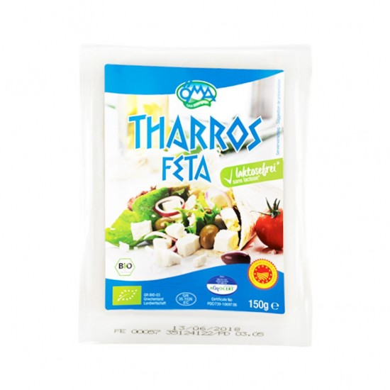 SER FETA THARROS BIO (48% TŁUSZCZU W SUCHEJ MASIE)  150 g - OMA