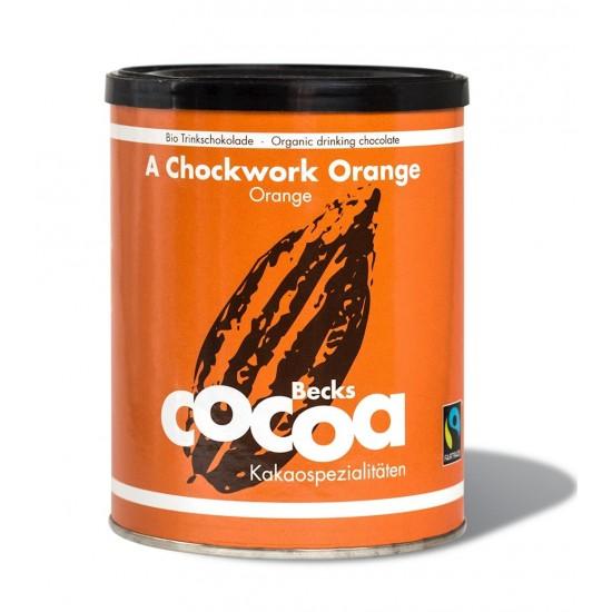 CZEKOLADA DO PICIA POMARAŃCZOWO-IMBIROWA FAIR TRADE BEZGLUTENOWA BIO 250 g - BECKS COCOA