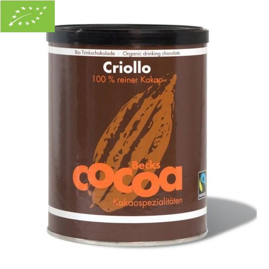 KAKAO W PROSZKU CRIOLLO FAIR TRADE BEZGLUTENOWE BIO 250 g - BECKS COCOA