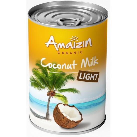 COCONUT MILK - NAPÓJ KOKOSOWY LIGHT W PUSZCE (9% TŁUSZCZU) BIO 400 ml -  AMAIZIN