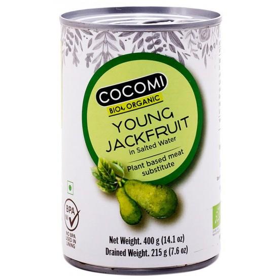 OWOC CHLEBOWCA RÓŻNOLISTNEGO (JACKFRUIT) W ZALEWIE BIO W PUSZCE 400 g (215 g) - COCOMI