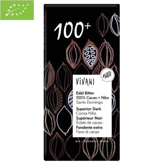 TABLICZKA GORZKA 100% KAKAO BIO 80 g - VIVANI