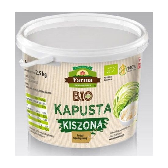 KAPUSTA KISZONA BIO 3 kg (2,5 kg) (WIADERKO) - FARMA ŚWIĘTOKRZYSKA