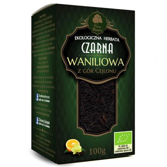 HERBATA CZARNA WANILIOWA BIO 100 g - DARY NATURY