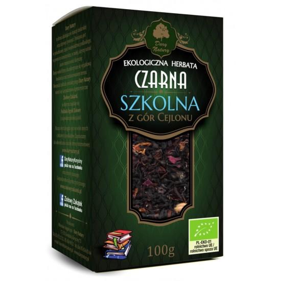 HERBATA CZARNA SZKOLNA BIO 100 g - DARY NATURY