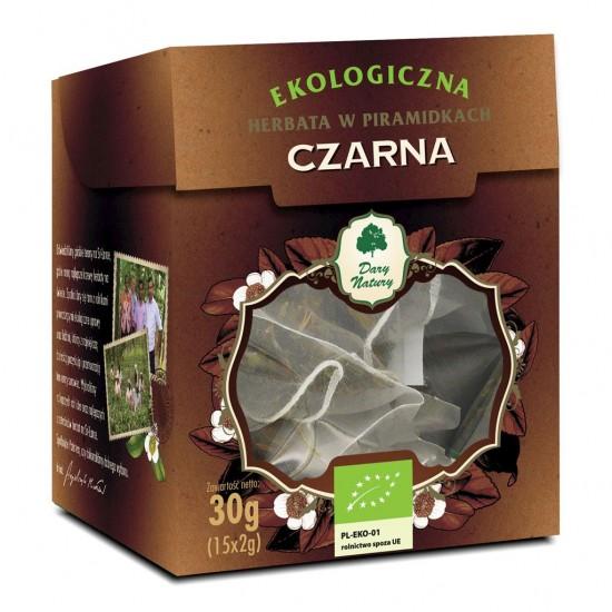 HERBATA CZARNA PIRAMIDKI BIO (15 x 2 g) - DARY NATURY