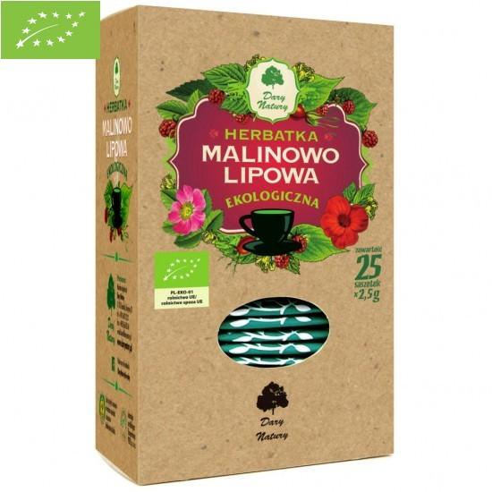 HERBATKA LIPOWO - MALINOWA BIO (25 x 2,5 g) - DARY NATURY