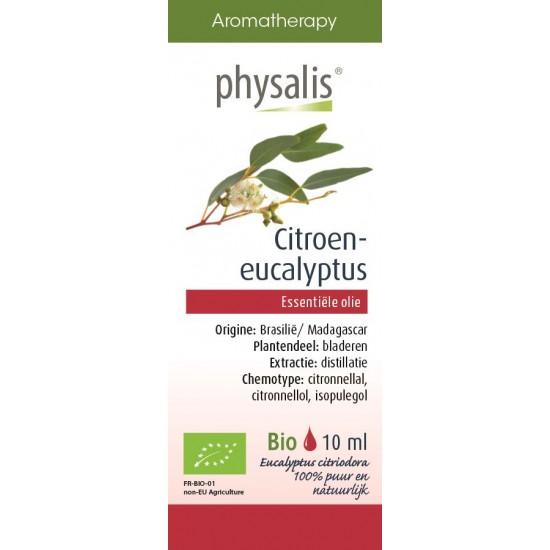 OLEJEK ETERYCZNY EUKALIPTUS CYTRYNOWY (CITROEN EUCALYPTUS) BIO 10 ml - PHYSALIS