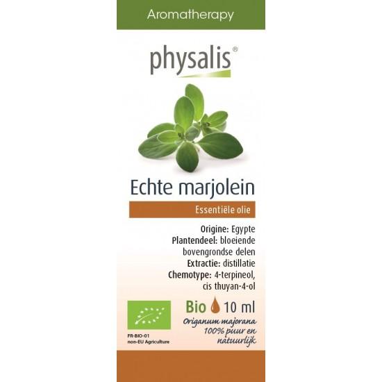 OLEJEK ETERYCZNY MAJERANEK (MARJOLAINE) BIO 10 ml - PHYSALIS