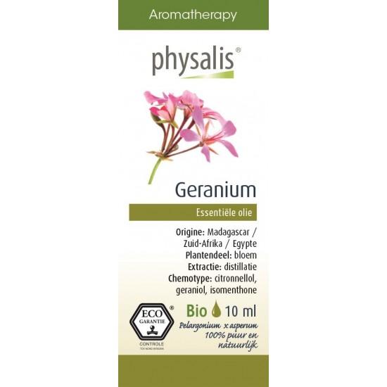 OLEJEK ETERYCZNY PELARGONIA (GERANIUM) EKO 10 ml - PHYSALIS