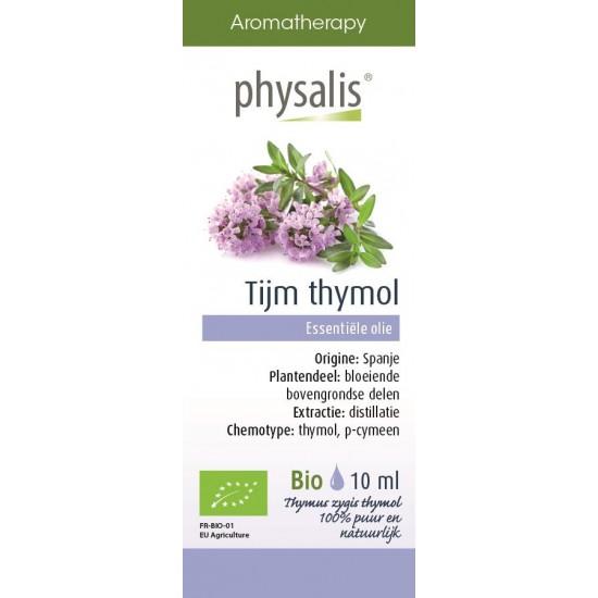 OLEJEK ETERYCZNY TYMIANEK THYMUS ZYGIS THYMOL (TIJM THYMOL) BIO 10 ml - PHYSALIS
