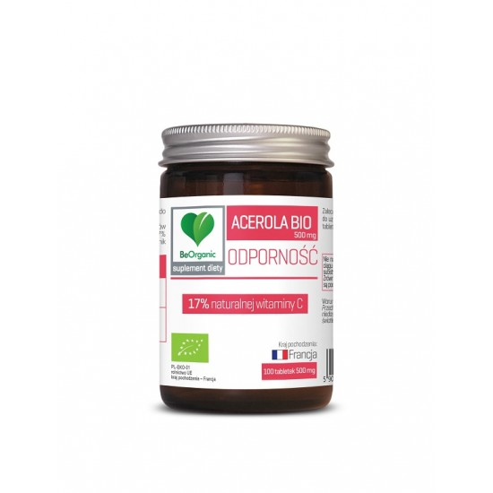 ACEROLA BIO 500 mg 100 TABLETEK - BE ORGANIC