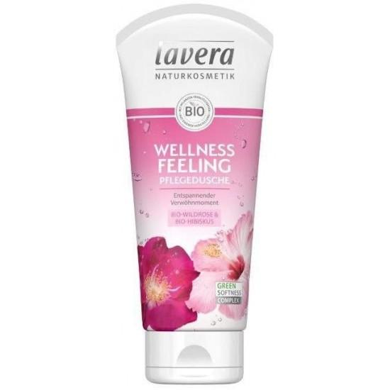 Żel pod prysznic dzika róża i hibiskus 200ml - relaksujący – LAVERA