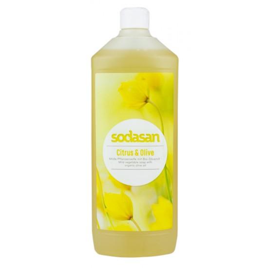 Mydło w płynie cytrusowo oliwkowe 1L - uzupełniacz - SODASAN