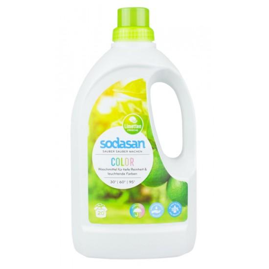 Uniwersalny limonkowy płyn do prania kolorowych ubrań 1,5L - SODASAN
